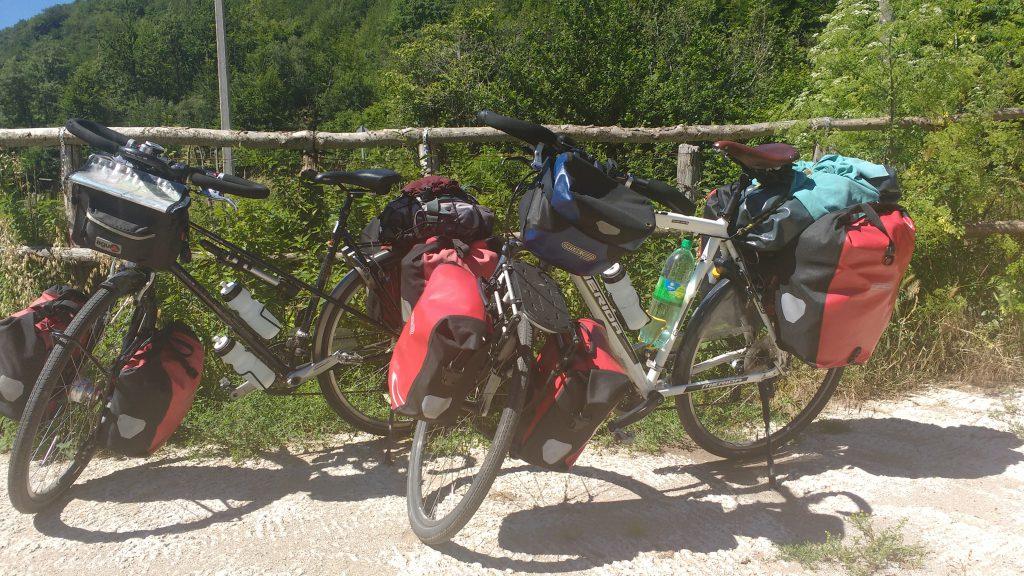 Bepakte fietsen