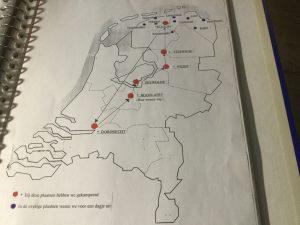 Route van de eerste kampeervakantie langs Natuurkampeerterreinen