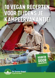 cover boekje vegan recepten tijdens kampeervakantie