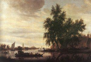 Salomon van Ruysdael, De veerboot, 1647